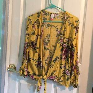Beautiful floral summer cardigan